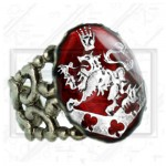 Cullen Family Crest Twilight New Moon Bella Esme Ring red