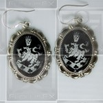 Cullen Family Crest Twilight Rosalie Alice 925 Earrings