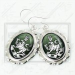 Cullen Family Crest Twilight Rosalie Alice 925 Earrings green w