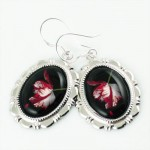 New Moon Book Twilight Edward Cullen Alice 925 Earrings