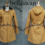 Twilight New Moon Bella Swan Tan Long Jacket Coat