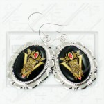 Volturi Coven Seal Crest Twilight New Moon 925 Earrings