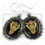 Volturi Coven Seal Crest Twilight New Moon 925 Earrings gunmetal