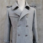 Twilight Edward Cullen Grey Gray wool Jacket Pea Coat