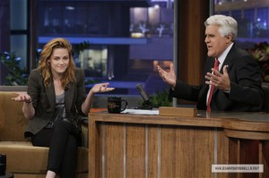 "Фотографии Кристен с ""The Tonight Show with Jay Leno"""